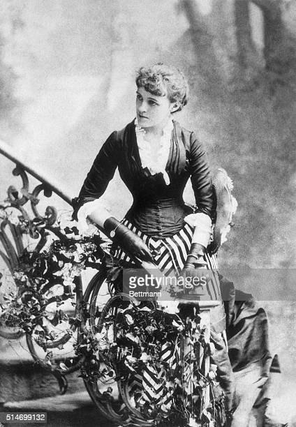 Edith Wharton taken when she was in her early twenties and before she became famous as a writer Her two best known works 'The House of Mirth' and...