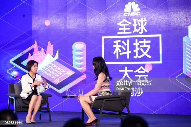 Edith Yeung Head of Greater China Partner of 500 Startups China speaks with Eunice Yoon of CNBC during Fireside Chat on Day 1 of CNBC East Tech West...