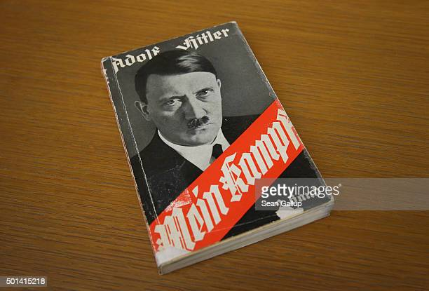 A 1941 edition of Adolf Hitler's 'Mein Kampf' lies at the library of the Deutsches Historisches Museum on December 15 2015 in Berlin Germany The...
