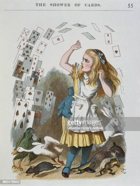 1890 edition of 'Alice in Wonderland' by Lewis Carroll