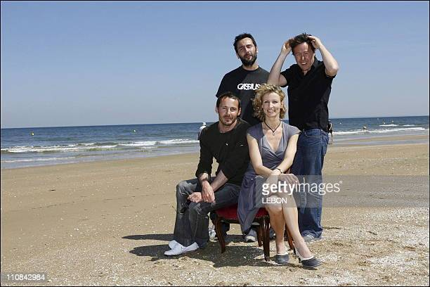 Edition Of Cabourg Romantic Film Festival Photo Call 'We'Ll Love' In Cabourg France On June 09 2006 Alexandra Lamy Gilles Lellouch Julien Boisselier...