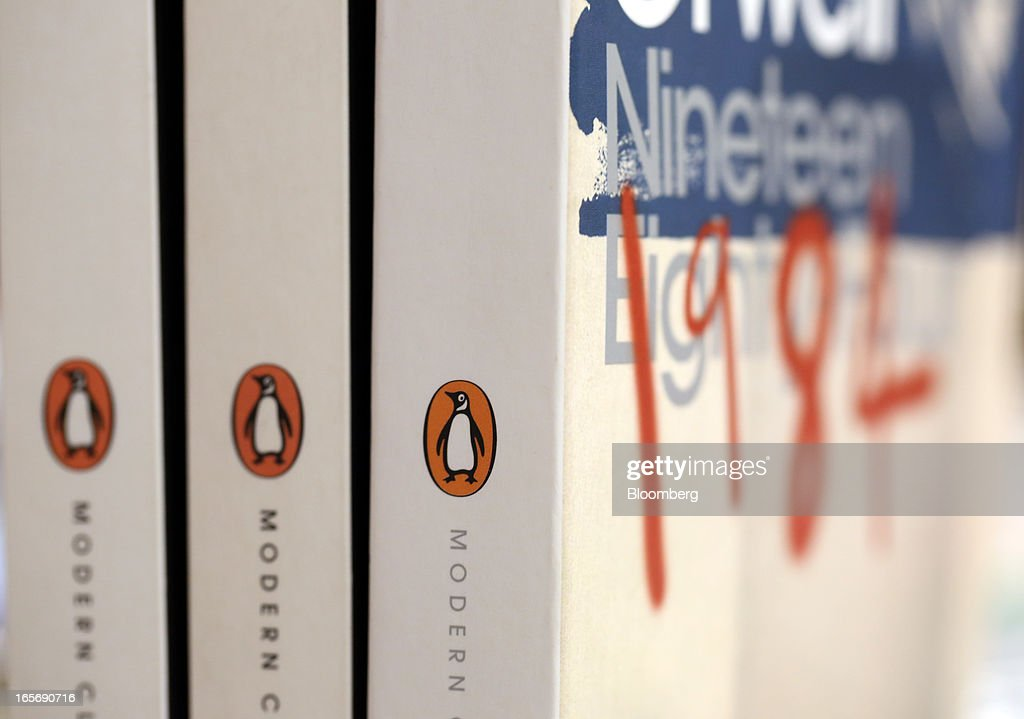Editions of Penguin book's '1984' by George Orwell stand displayed at a bookstore in London, U.K., on Friday, April 5, 2013. Bertelsmann SE's Random House won European Union approval to buy Pearson Plc's Penguin unit to create the largest book publisher in the U.K. and the U.S. Photographer: Chris Ratcliffe/Bloomberg via Getty Images