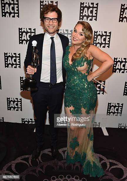 Editor Adam Penn and actress Amanda Fuller attend the 65th Annual ACE Eddie Awards at The Beverly Hilton Hotel on January 30 2015 in Beverly Hills...