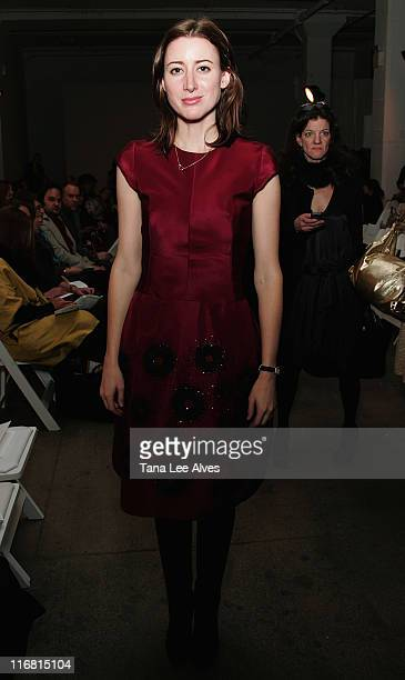 Editor Alexis Bryan attends Behnaz Sarafpour Fall 2008 during Mercedes-Benz Fashion Week at Exit Art February 5, 2008 in New York City.