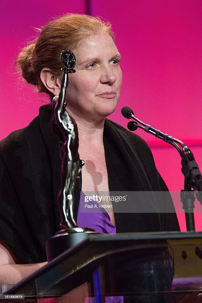 Editor Anne McCabe, A.C.E. receives the award for Best Edited One-Hour Series for Non-Commercial Televsion for her work on 'The Newsroom: 'We Just Decided To (Pilot)'' during the 63rd Annual ACE Eddie Awards held at The Beverly Hilton Hotel on February 16, 2013 in Beverly Hills, California.