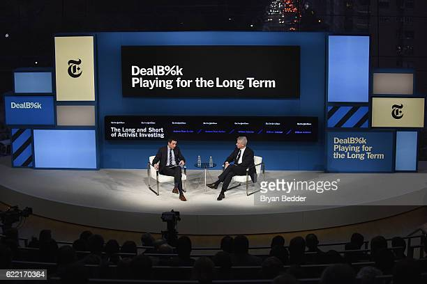 Editor at Large and Columnist for The New York Times Andrew Ross Sorkin and CEO and Portfolio Manager Pershing Square Capital Management L.P. William...