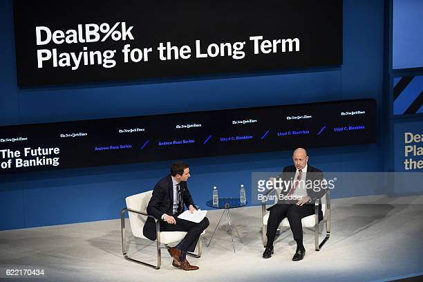Editor at Large and Columnist for The New York Times Andrew Ross Sorkin and Chairman and CEO of The Goldman Sachs Group Inc Lloyd C Blankfein speaks...