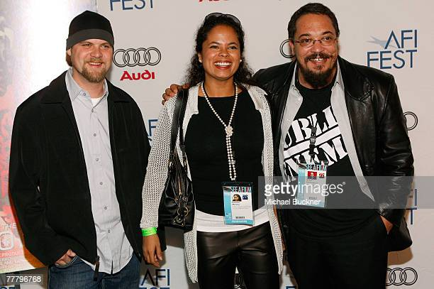 Editor Beecher Cotton coproducer Patricia Moreno and director Robert PattonSpruill arrive at the world premiere of Public Enemy during AFI FEST 2007...