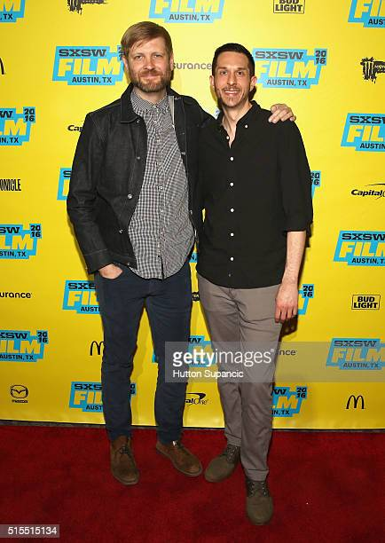 Editor Ben Barnes and editor Jason Jones attend the premiere of Accidental Courtesy Daryl Davis Race America during the 2016 SXSW Music Film...