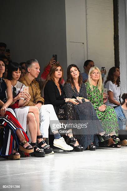 Editor Carine Roitfeld attends the Rodarte fashion show during New York Fashion Week September 2016 at Center 548 on September 13 2016 in New York...