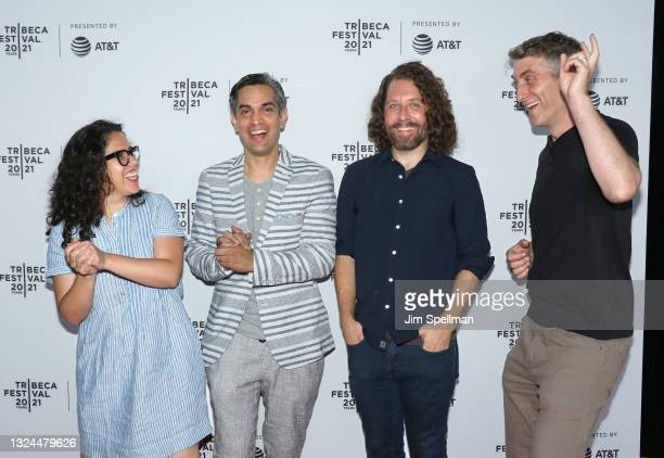 """Editor Carla Gutierrez, co-director/producer Sami Kahn, co-director/producer Michael Gassert and producer Jonathan Miller attend the """"The Last Out""""..."""