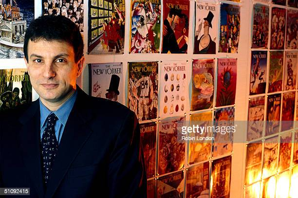 Editor David Remnick Poses For A Portrait This Year Against A Backdrop Of Magazine Covers In The New Yorker Offices In New York City He Spent 10...