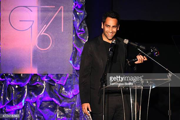 Editor David Schumann accepts the Golden Trailer Award for Best Summer 2015 Blockbuster Trailer on behalf of the crew on stage during the 16th annual...