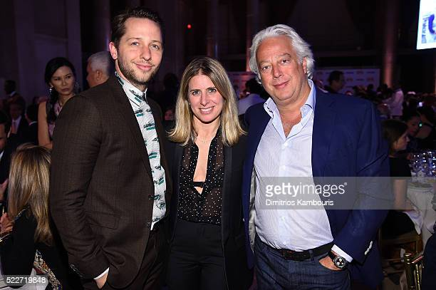 Editor Derek Blasberg Aby Rosen and guest attend the Food Bank Of New York City's Can Do Awards 2016 hosted by Mario Batali at Cipriani Wall Street...