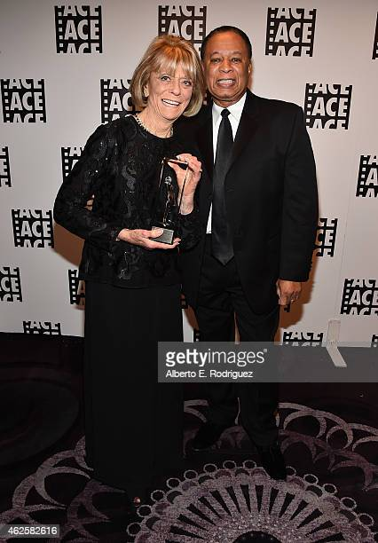 Editor Diane Adler and producer Charles Johnson attend the 65th Annual ACE Eddie Awards at The Beverly Hilton Hotel on January 30 2015 in Beverly...