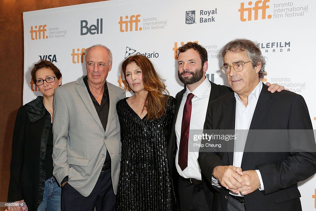 Editor Dominique Fortin, Director Charles Biname, actress Catherine Keener, writer Nicolas Billon and producer Richard Goudreau attend the 'Elephant Song' premiere during the 2014 Toronto International Film Festival at Isabel Bader Theatre on September 10, 2014 in Toronto, Canada.