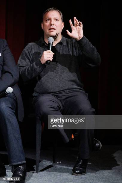 Editor Dylan Tichenor on stage during The Academy of Motion Picture Arts Sciences Official Academy Screening of Phantom Thread at MOMA on December 12...