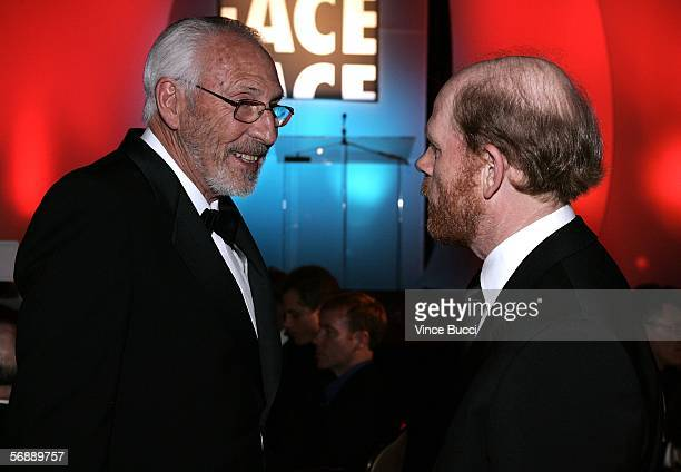 Editor Ed Abroms ACE and Filmmaker Ron Howard attend the 56th Annual ACE Eddie Awards held at the Beverly Hilton Hotel on February 19 2006 in Beverly...