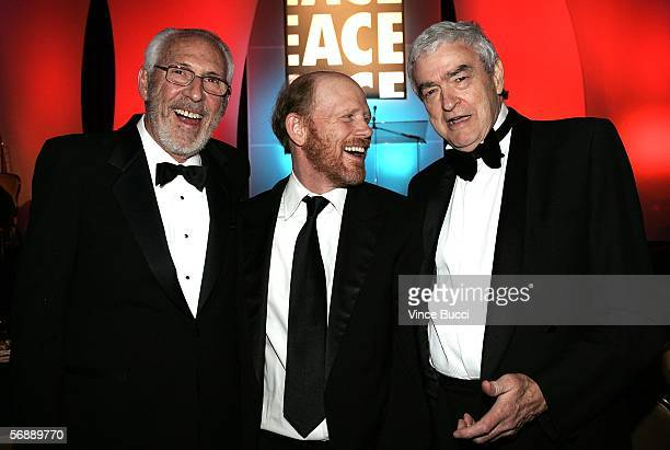 Editor Ed Abroms ACE Filmmaker Ron Howard and Editor Terry Rawlings ACE attend the 56th Annual ACE Eddie Awards held at the Beverly Hilton Hotel on...