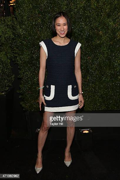 Editor Eva Chen attends the 2015 Tribeca Film Festival Chanel Artists' Dinner at Balthazar on April 20, 2015 in New York City.