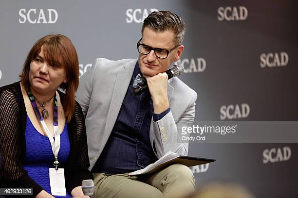 TV editor for IndieWire Liz Miller and senior writer and editor for E Entertainment Marc Malkin speak during the aTVfest Media Panel Television...