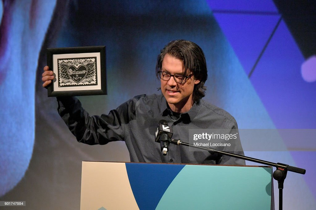 Editor Garret Savage presents the Karen Schmeer Film Editing Fellowship Presentation award at the SXSW Film Awards show during the 2018 SXSW Conference and Festivals at Paramount Theatre on March 13, 2018 in Austin, Texas.