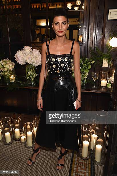 Editor Giovanna Battaglia attends CHANEL Tribeca Film Festival Artists Dinner Inside on April 18 2016 in New York City