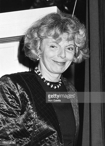 Editor Grace Mirabella attends Sixth Annual Night of Stars Gala on October 29 1989 at the Plaza Hotel in New York City