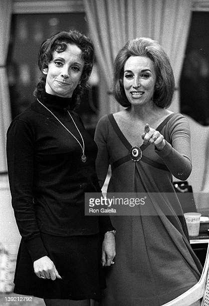 Editor Helen Gurley Brown attends Cosmopolitan Magazine Christmas Party on December 19, 1969 at the Cosmopolitan Magazine Office in New York City.