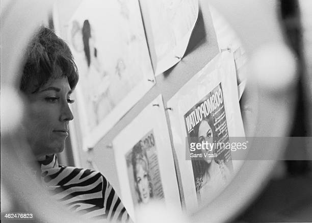 Editor Helen Gurley Brown posing for a photo on January 5, 1968 in New York, New York.
