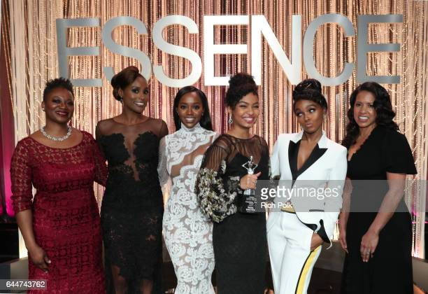 Editor in Chief at Essence Magazine Vanessa K De Luca honorees Issa Rae Aja Naomi King Yara Shahidi Janelle Monae and President of Essence...