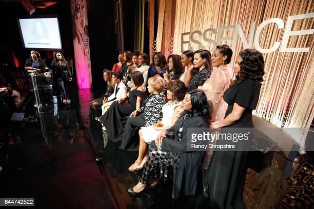 Editor in Chief at Essence Magazine Vanessa K. De Luca, Quvenzhane Wallis, Yara Shahidi, Aja Naomi King, Danielle Brooks, Shonda Rhimes, Vicky Jeudy,...