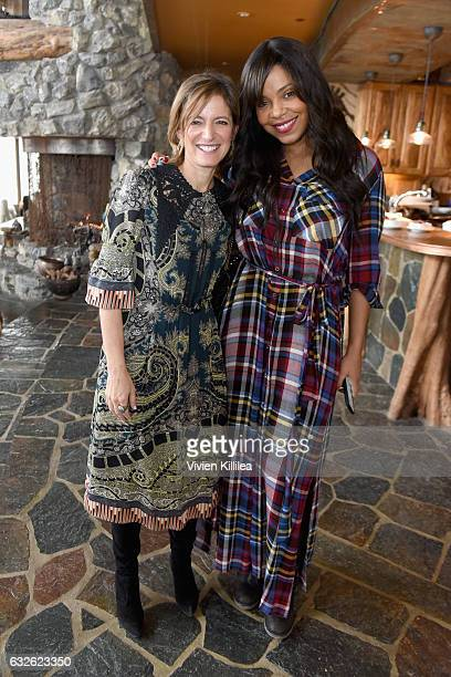 Editor in Chief at Glamour Magazine Cindi Leive and actress Sanaa Lathan attend Lunch Celebrating Films Powered By Women Hosted By Glamour's Cindi...