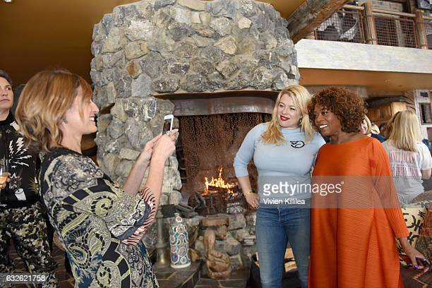 Editor in Chief at Glamour Magazine Cindi Leive founder of Girl Gaze Amanda de Cadenet and actress Alfre Woodard attend Lunch Celebrating Films...
