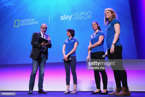 Editor in Chief at National Geographic Italy Marco Cattaneo Sky Ocean Rescue Scholars Martina Capriotti Annette Fayet and Imogean Napper speak on the...
