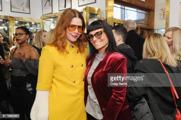 Editor in chief at Refinery29 Christene Barberich and fashion designer Norma Kamali attend Vintage For The Future A Norma Kamali Retrospective by...