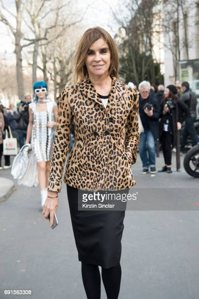 Editor in Chief CR Fashion book and fashion consultant Carine Roitfeld on day 3 during Paris Fashion Week Autumn/Winter 2017/18 on March 2 2017 in...