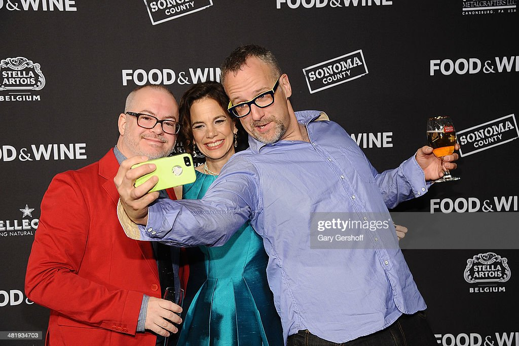 Editor in Chief Dana Cowin (C) with co-owners of The Big Gay Ice Cream Shop, Bryan Petroff (L) and Doug Quint attend the 2014 FOOD & WINE Best New Chefs Party at Powerhouse at The American Museum of Natural History on April 1, 2014 in New York City.
