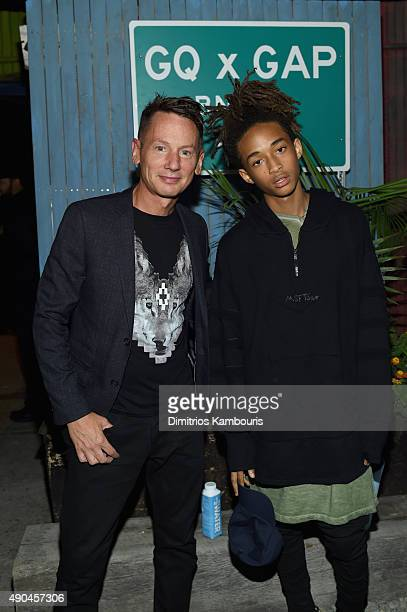 GQ editor in chief Jim Nelson and actor Jaden Smith attend the GQ x GAP Best New Menswear Designer in America collection launch party at Crown...
