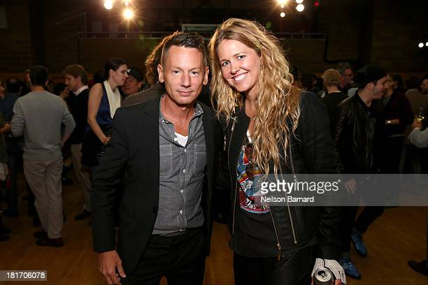GQ editor in chief Jim Nelson and designer Paige Mycoskie attend the GQ Gap event to celebrate 2013 Best New Menswear Designers Collaboration on...