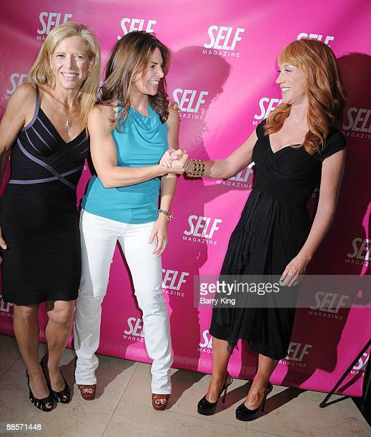 Editor in Chief Lucy Danziger TV personality Jillian Michaels and Comic/TV personality Kathy Griffin arrive at the SELF Magazine Celebration of the...