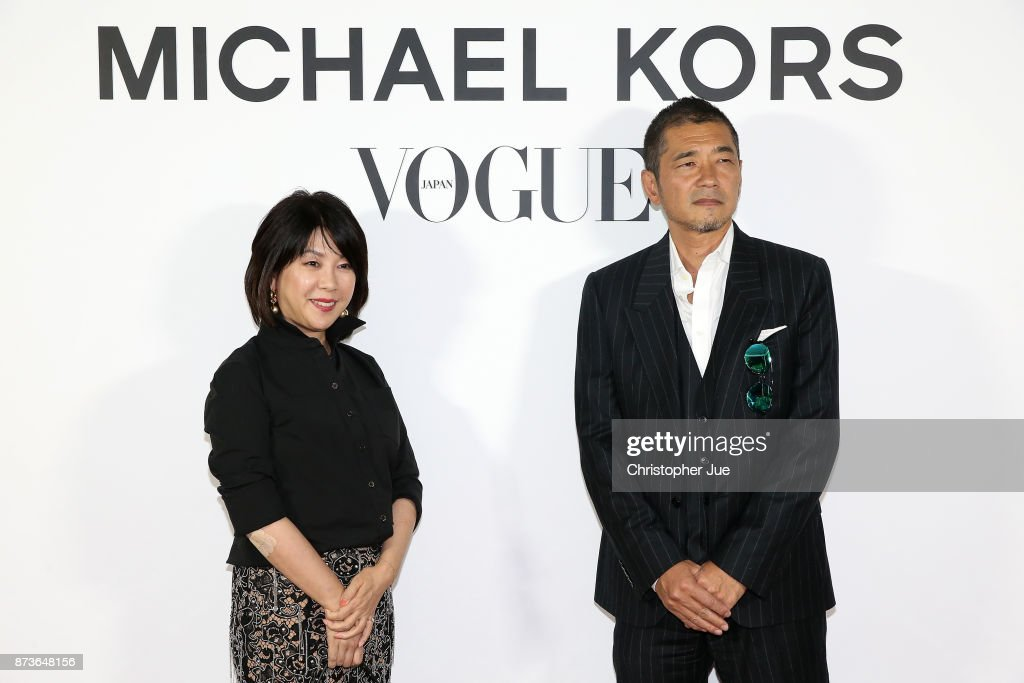 Editor in chief Mitsuko Watanabe (L) and Jun Kitada attend the Michael Kors And Vogue Japan Celebrate Kate Hudson's Work With Watch Hunger Stop In Support Of The World Food Programme on November 13, 2017 in Tokyo, Japan.