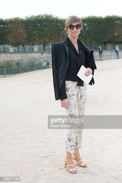 Editor in Chief of British Glamour Jo Elvin on day 8 of Paris Fashion Week Spring/Summer 2014 Paris October 01 2013 in Paris France