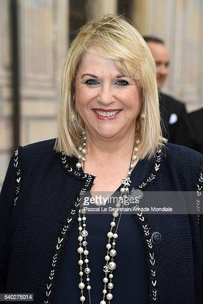 Editor in chief of Bunte Patricia Riekel attends the AMADE Deutschland Charity dinner on June 14 2016 in Munich Germany