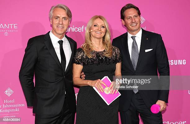 Editor in chief of CloserTom Junkersdorf Frauke Ludowig Axel Ludwig generaldirector of Hotel Vier Jahreszeiten attend the CLOSER Magazin Hosts SMILE...