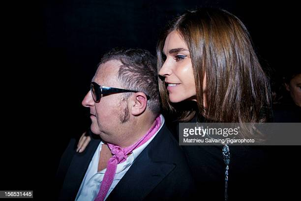 Editor in Chief of CR FashionBook Carine Roitfeld and Lanvin designer Alber Elbaz are photographed for Madame Figaro on September 27 2012 during...