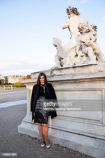 Editor in Chief of CR FashionBook Carine Roitfeld is photographed for Madame Figaro on September 27 2012 during Paris Fashion Week in Paris France...