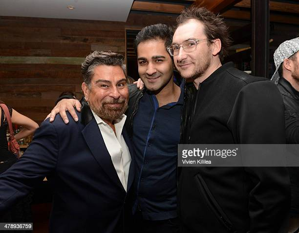 Editor in Chief of FLAUNT Magazine Luis Barajas Abbas Khan and chairman at the Barbarian Group Benjamin Palmer attend FLAUNT Celebrates The Release...