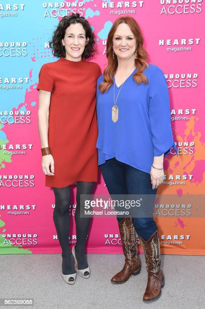 Editor in Chief of Food Network Magazine Maile Carpenter and Ree Drummond attends Hearst Magazines' Unbound Access MagFront at Hearst Tower on...