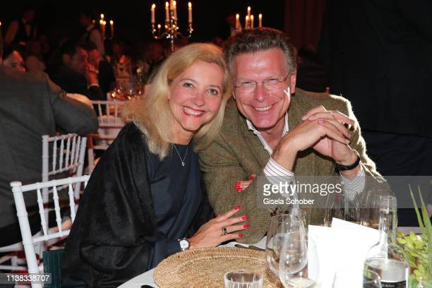 Editor in chief of Frau im Spiegel Claudia Cieslarczyk and her partner during the FCR EAGLES Masters Toscana golf tournament Dinner of FalkRaudies...